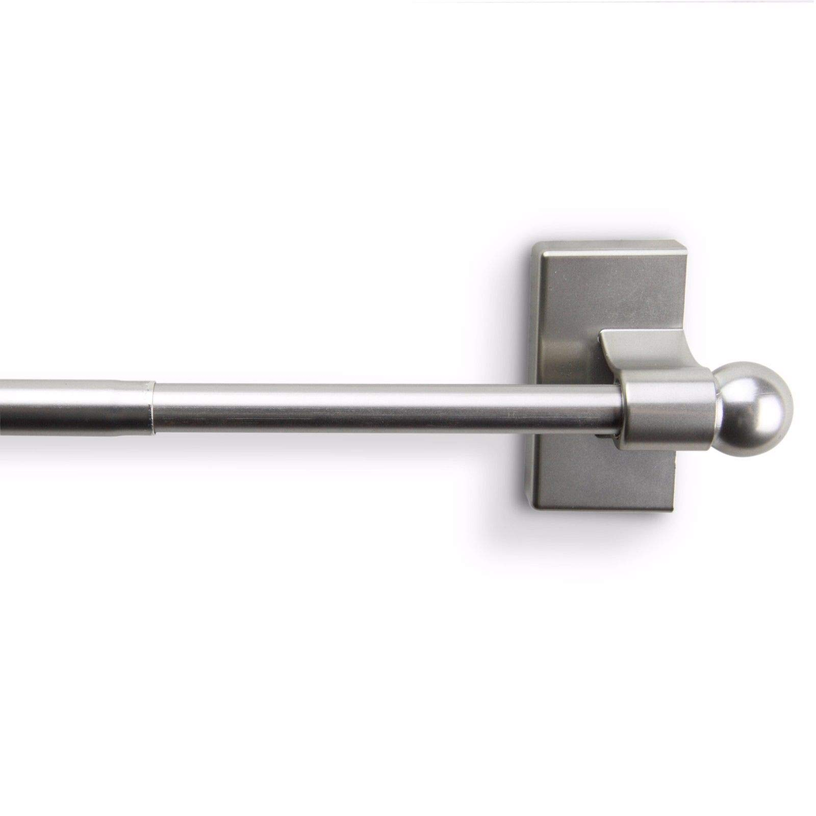 Satin Nickel Magnetic Curtain Rod (17-30 inch) by Unknown