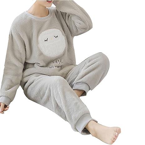 Lama Alles in einem Schlafanzug Fleece Damen Neuheit Kuschlig Kapuze Winter