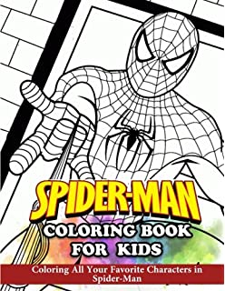 Spiderman Coloring Book Coloring Book For Kids And Adults Activity