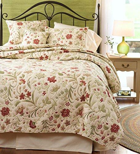 Jacobean Vine - Jacobean Vine King Cotton Quilt Bedding Set, 104 x 90