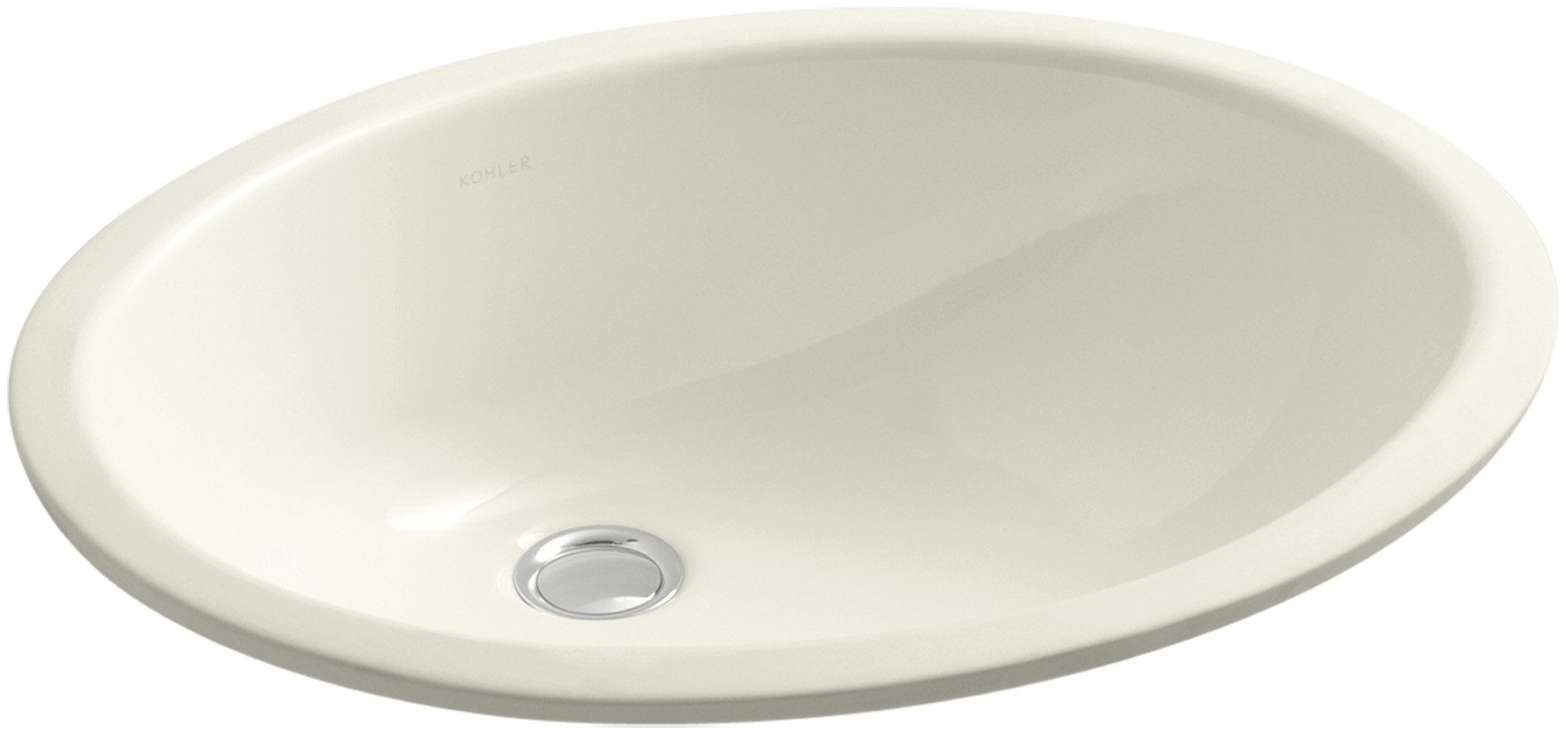 KOHLER K-2210-96 Caxton Undercounter Bathroom Sink, Biscuit