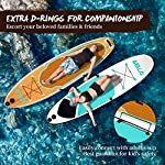 DAMA-Inflatable-Stand-up-Paddle-Boards-10-SUP-Paddle-BoardKids-Board-SUP-Paddle-Board-Drop-Stitch-And-PVC-FinCarry-BagPaddleHand-PumpLeashall-Round-BoardGreen
