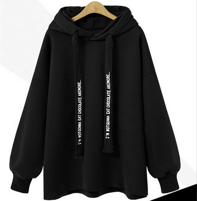 Women Harajuku Casual Coat Hooded Pullover Loose Women Hoodies Sweatshirt Top