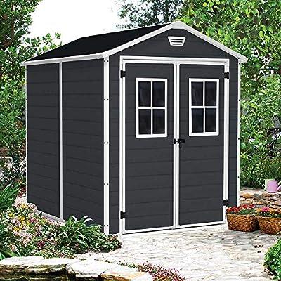 Garden House Garage 91 Caseta Cobertizo para Jardín de Resina 227x186x237cm GH91: Amazon.es: Hogar