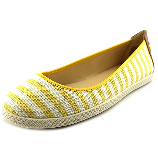 Nine West Weiß Royalli Yellow Weiß West Fabric Flat Damens Größe da859e