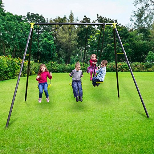 Garden swing set childrens see saw glider outdoor toy home for Swing set frame only