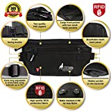 RFID Money Belt For Travel with 1x Passport and 6x Credit Card Protector RFID Sleeves, Those Travel Wallets and Accessories are must have for any traveler