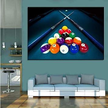 Juabc Decoración De Arte Billar Deporte Color Bolas Y Tinte ...