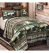 Black Forest Décor Streamside Bears Quilt Set - Queen - Clearance