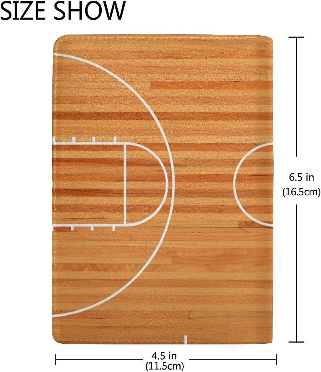 Coosun Basketball Court Floor Plan Leather Passport Holder Cover Case For Travel One Pocket Accessories Travel Accessories Clinicadelpieaitanalopez Com