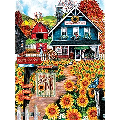 Sunsout 28776 Wood At The Sunflower Inn Puzzle 1000 Pezzi