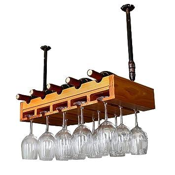 5 Botellas de Estante para vinos, portavasos de Madera Maciza para Colgar, Brazo Ajustable 30~60 cm: Amazon.es: Hogar