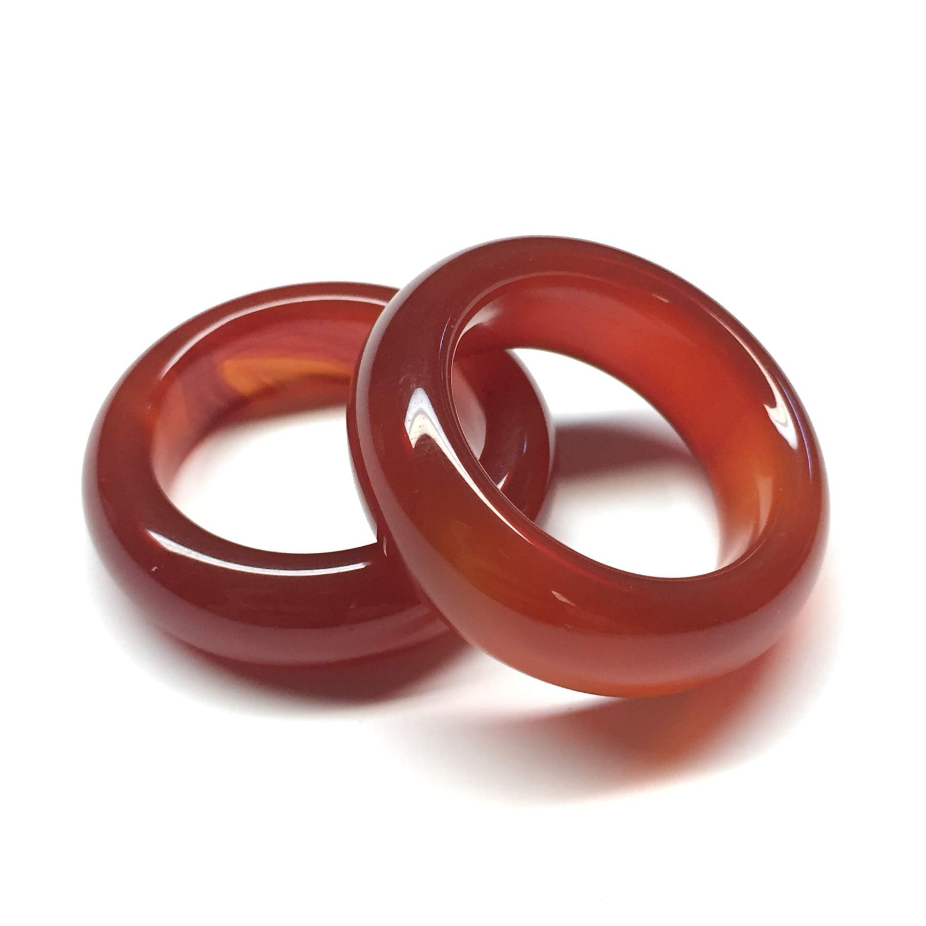 WHITESTONE JEWELRY CO. Strawberry Rhubarb Red Carnelian Stone Ring (Size 12.5) by WHITESTONE JEWELRY CO.