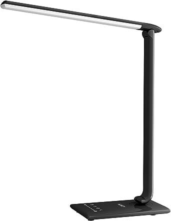 AUKEY LT-T10 - Lámpara Escritorio, Flexo LED con 5 Modos, 7 ...