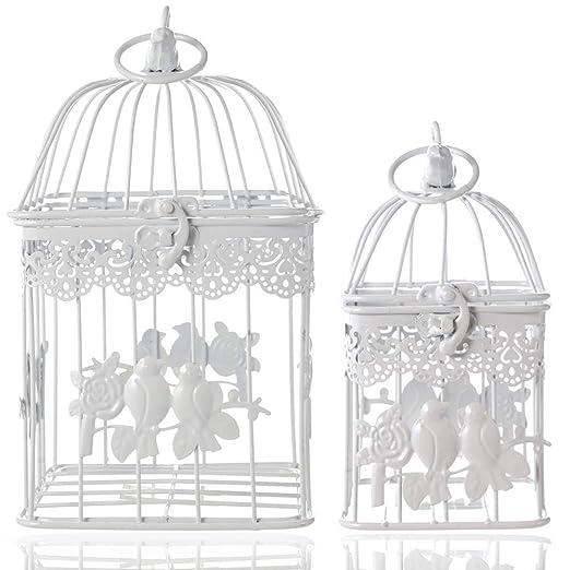 LONGBLE Jaula decorativa para pájaros, jaula decorativa para ...