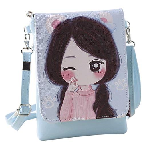 Girls Leather CrossBody Bag Mini Shoulder Bags Fashionable Casual Handbags for Women F by TOPUNDER: Handbags: Amazon.com