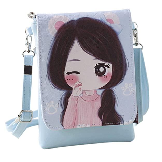 Amazon.com: Girls Leather Crossbody Bag Mini Shoulder Bags Fashionable Casual Handbags for Women F by TOPUNDER: Car Electronics