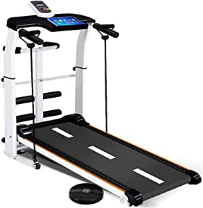 TANGNADE 4-in-1 Mechanical Treadmill, Folding Shock Running, Supine, T-wisting, Draw Rope for Home Gym Workout Fitness Running Machine