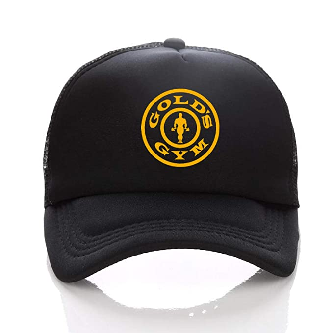 Summer Baseball Cap Golds Gym Mesh Cap Hats for Men Women Gorras Hombre Hats Casual Hip Hop Caps Adjustable Black at Amazon Womens Clothing store: