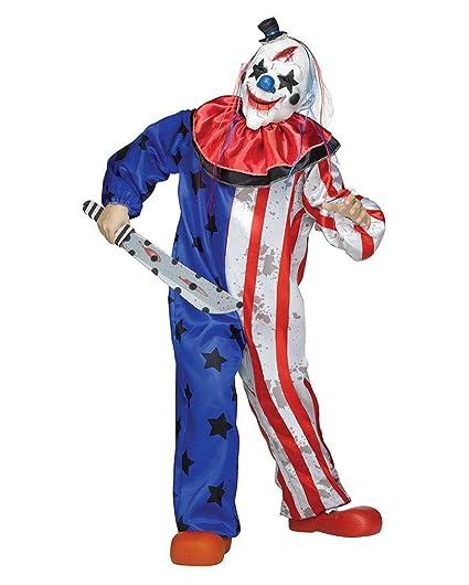 traje del payaso de circo de terror con la máscara: Amazon ...