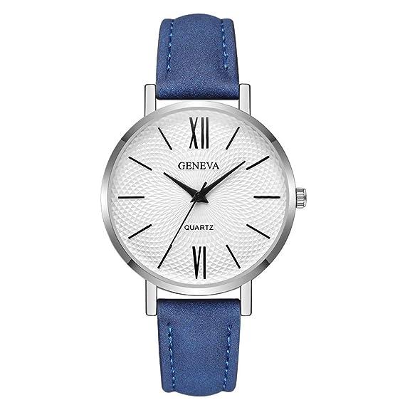 Darringls_Reloj Geneva,Natural De Madera del Reloj De Cuero Reloj Único Texturas Natural Madera Reloj Estilo Casual Reloj de Pulsera Reloj de Cuarzo: ...