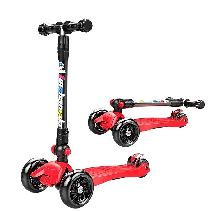 Patinete Kick Scooter para niños 1-3-5-6-10-12 Años 2 Rueda ...