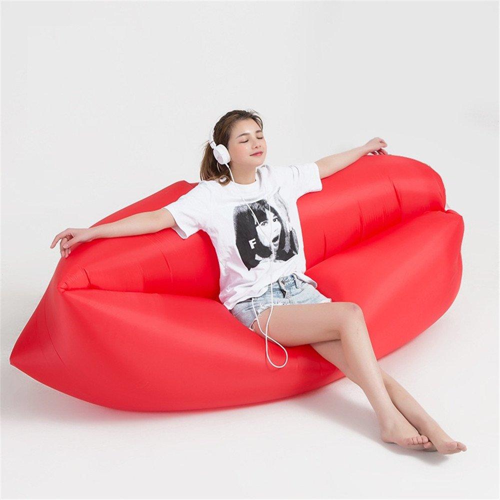 Hung Kai Saco hinchable dormir, cama, sofá, cama, etc, color rojo ...