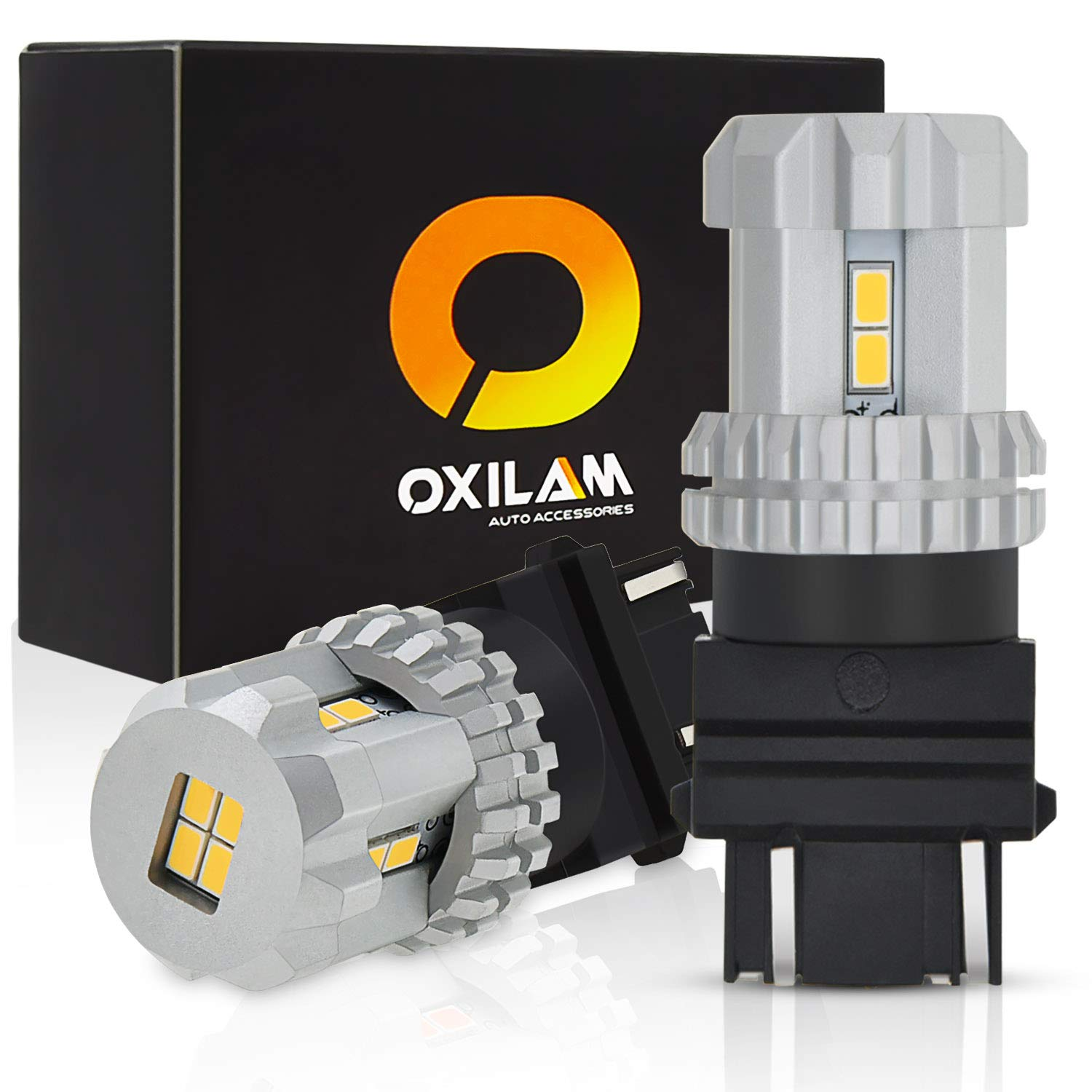 OXILAM [2018 Newest] LED Bulbs Backup Reverse Light or DRL Extremely Bright 3157 3057 4157 3156 LED Bulbs White with 12pcs 3020 Chipsets Instant Start Xenon White (2 PACK)