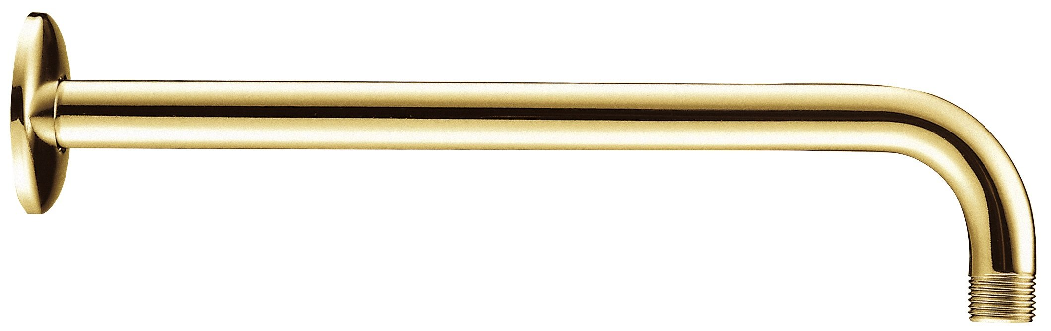 Danze D481027PBV Right Angle Showerarm with Flange, 15-Inch, Polished Brass PBV