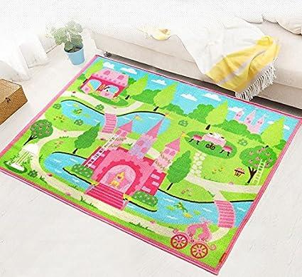 Attrayant Abreeze Cartoon Castle Girls Bedroom Rugs,Delicate Little Flowers Bedroom  Floor Rugs,Cute Colorful