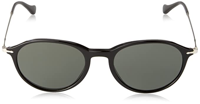 e9efb3d36387 Persol Men's PO3125S Sunglasses Black / Polar Grey 51mm at Amazon Women's  Clothing store: