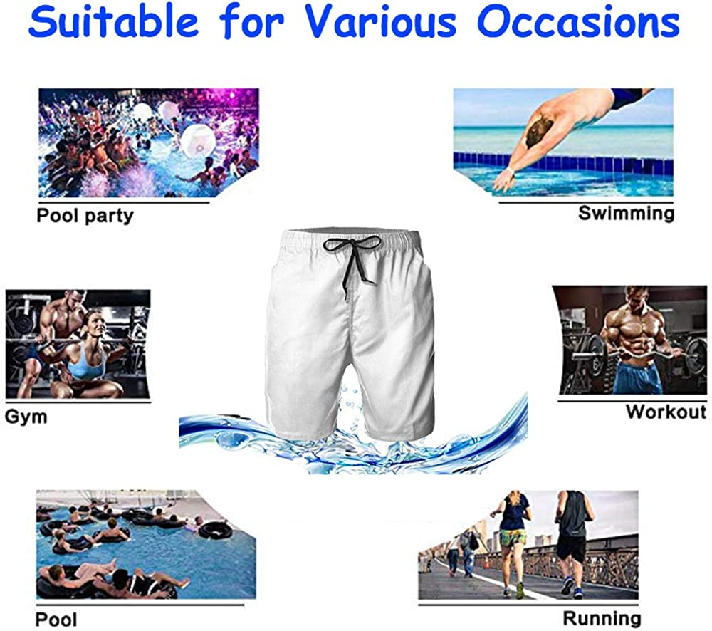 NiYoung Men Boys Beach Board Shorts Adjustable Drawstring Quick Dry Bathing Suit