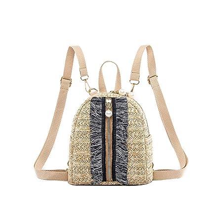 07341fadb8b0 Amazon.com: Women Color Matching Wild Fashion Leisure Travel Bag ...
