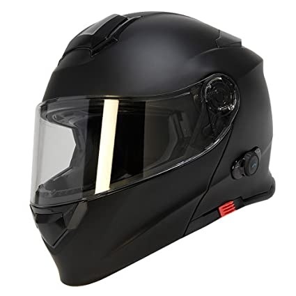 TORC Unisex-adult full-face-helmet-style T28B Bluetooth Integrated Motorcycle Helmet