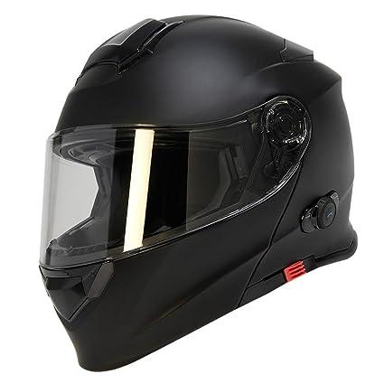 TORC Unisex-adult full-face-helmet-style T28B Bluetooth Integrated Motorcycle Helmet