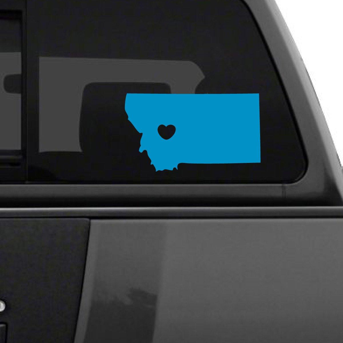 大人気定番商品 I Love Montana車デカール、Die B07235MV5V Cut 6\ Vinyl Decal for Windows車 Cut、トラック、ツールボックス、ノートパソコン、ほぼすべてmacbook-ハード、滑らかな表面 6