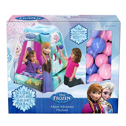 Disney Frozen Ice Princess Elsa & Anna Alpine Adventure Playland Ball Pit + 50 Balls