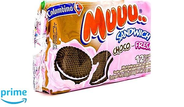 Amazon.com : Colombina Muuu Sandwich Choco-Fresa, 10.6 Ounce (Pack of 24) : Grocery & Gourmet Food