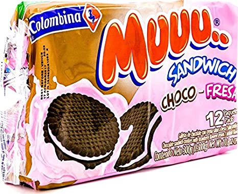 Amazon.com : Colombina Muuu Sandwich Avena Leche, 10.5 Ounce (Pack of 24) : Grocery & Gourmet Food