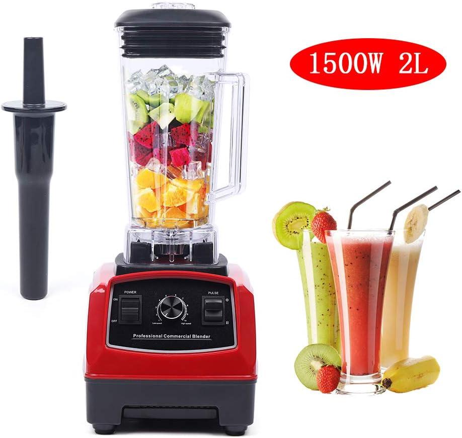 Dyrabrest Commercial Blender, 1500W 2L Professional High Speed Countertop Blender Mixer Machine for Juicer Smoothie Fruit Food Grain (YL-010)