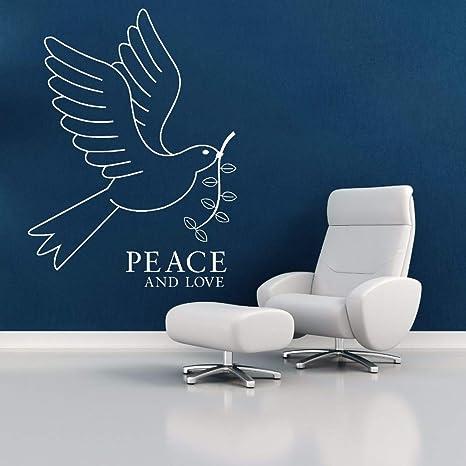 Etiqueta de la pared Extraíble Pájaro de la Paz y el Amor Tatuajes ...