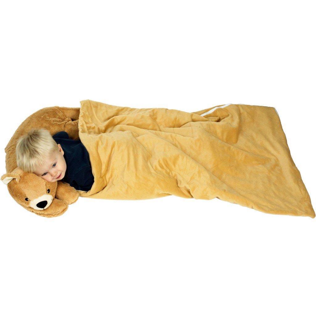 Teddy Bear Sleeping Bed N Bag Snuggle Stuffed Plush Pillow Cuddlee Pet Amazoncouk Kitchen Home