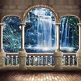 Arched Pillars 10' x 10' Digital Printed Photography Backdrop KA Series Background KA048