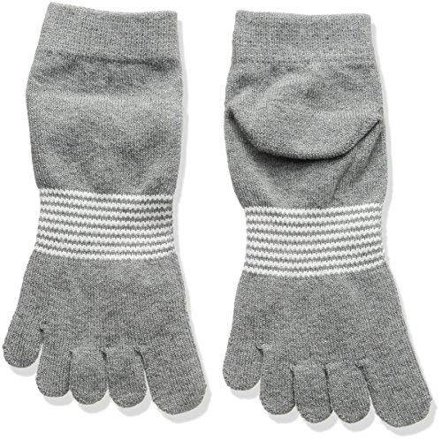 [マスターバニー][メンズ] アンクル ソックス ボーダー (5本指 セパレート) / 158-8186201 / 靴下 ゴルフ メンズ