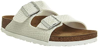BIRKENSTOCK Damen Arizona Sandalen, Weiß (Magic Snake White Magic Snake White), 37 EU