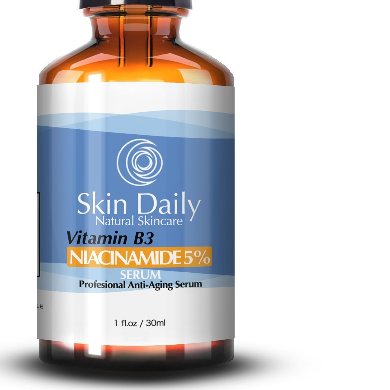 Niacinamide Vitamin B3 Cream Serum 5%- 1 Oz - Visibly Tightens Pores, Reduces Wrinkles, Boosts Collagen, an Superior Moisturizing to Promote Visibly Younger Skin - Your Friends Will Notice Skin Daily Skincare Solutions