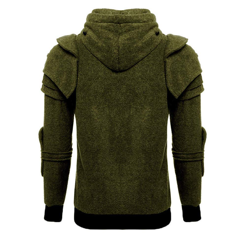 Zolimx Sweatshirt Pullover mit Kapuze Herren N/ähen Maske Skull Splicing Pullover Langarm Kapuzenpulli Tops Bluse