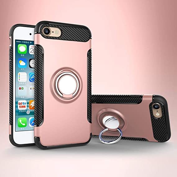 Amazon Com Iphone 8 Case Magnetic 360 Rotating Ring Grip Holder