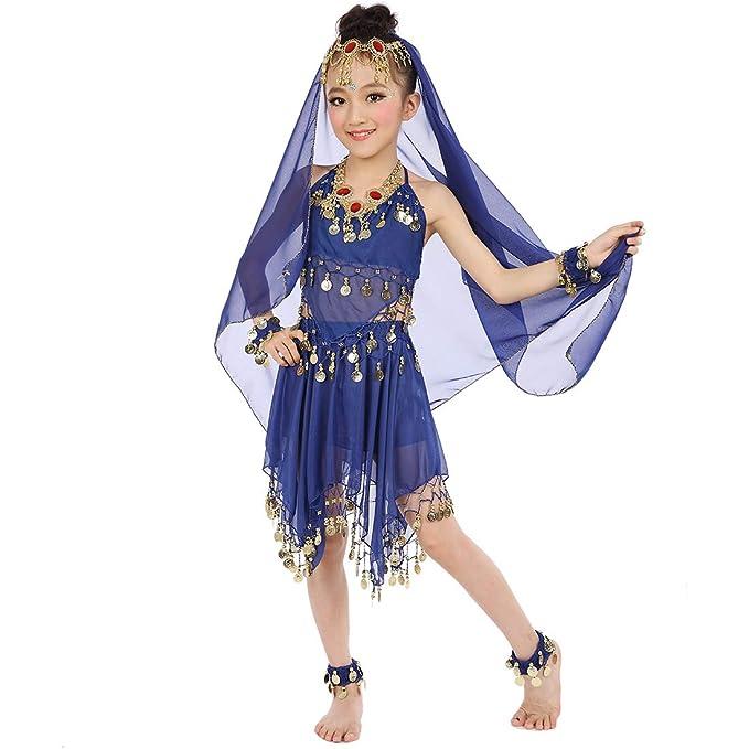 Amazon.com: Disfraz de danza del vientre para niñas y ...