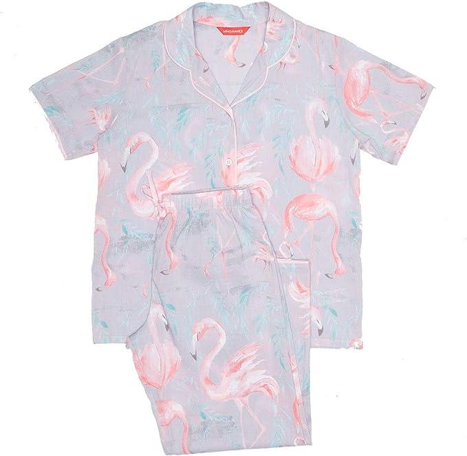 Minijammies 5375 GirlS Zara Grey Flamingo Print Pyjama Set 4 ...